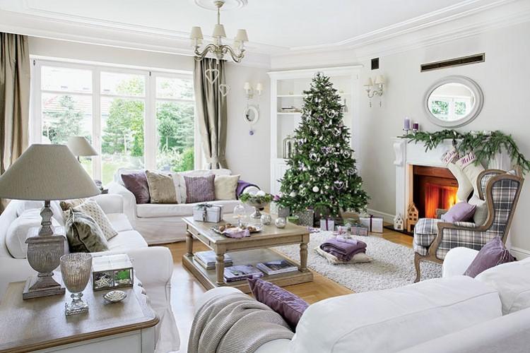 Decor me casas navide as una decoraci n cl sica en tonos - Decoracion navidena casas ...