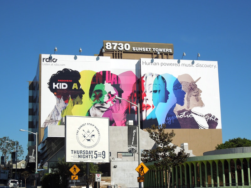 Giant Rdio billboard Sunset Strip
