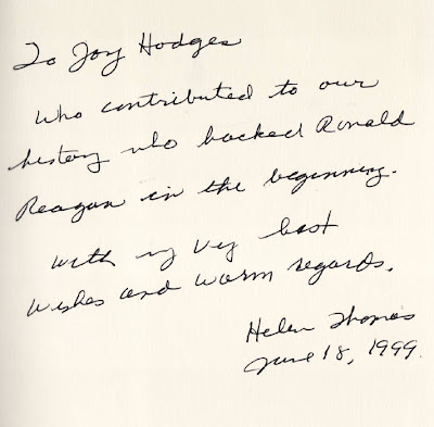 Helen Thomas autograph
