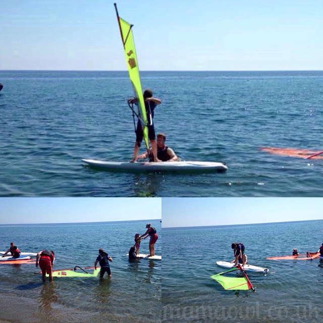 H windsurfing with Mark Warner Junior Club