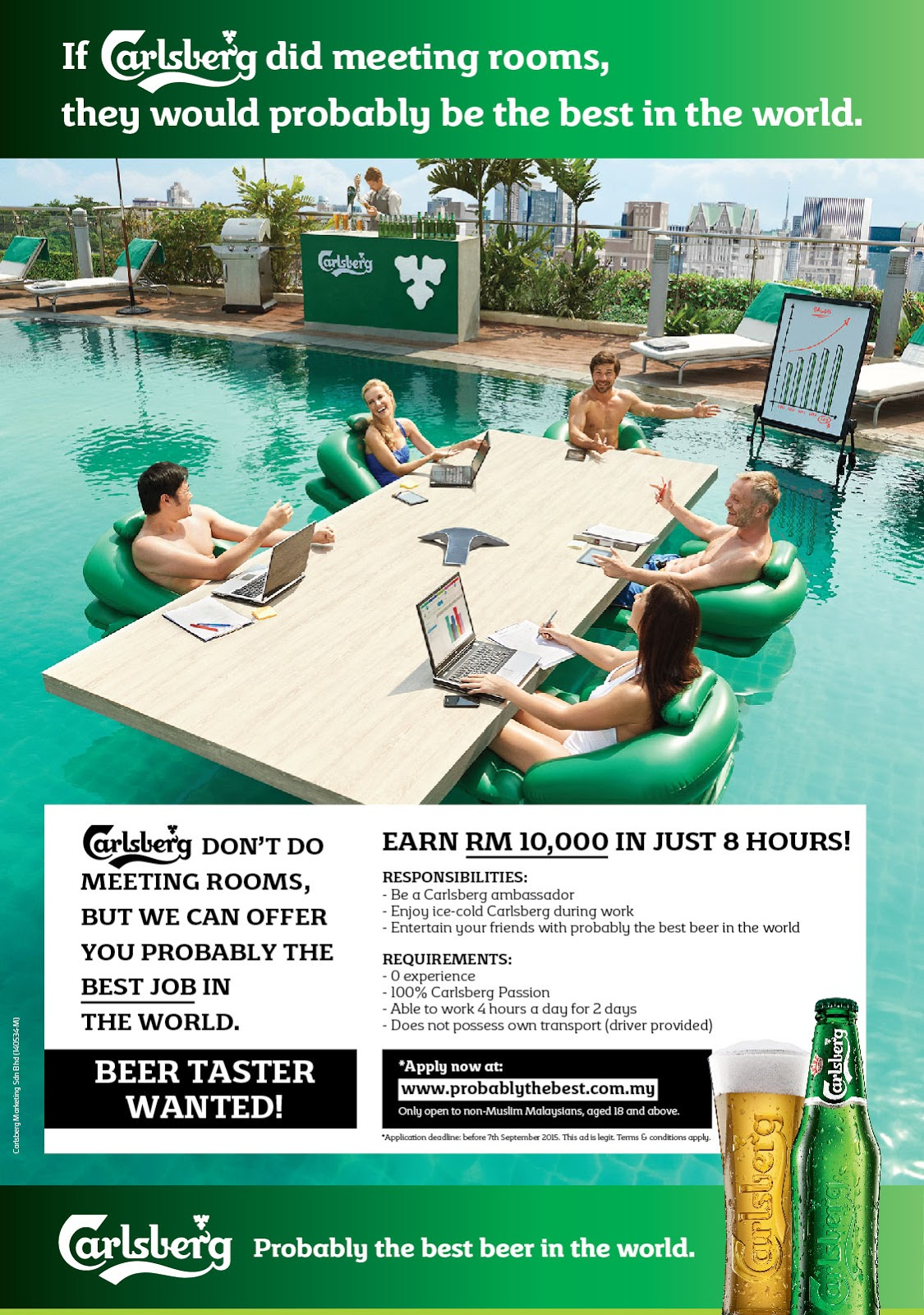 probably the best job in the world mistah fong carlsberg probably the best job in the world