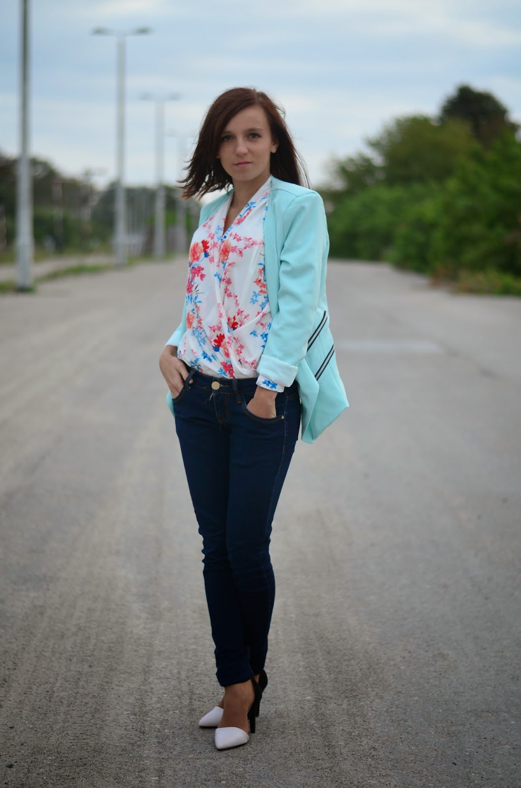 Baby blue&floral blouses ♥