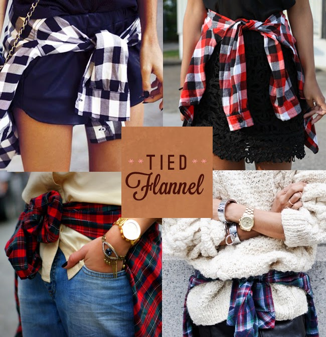 Trending - tied at waist flannel