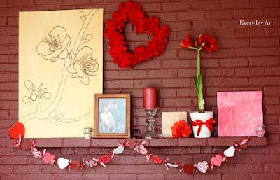 Valentine's Mantel