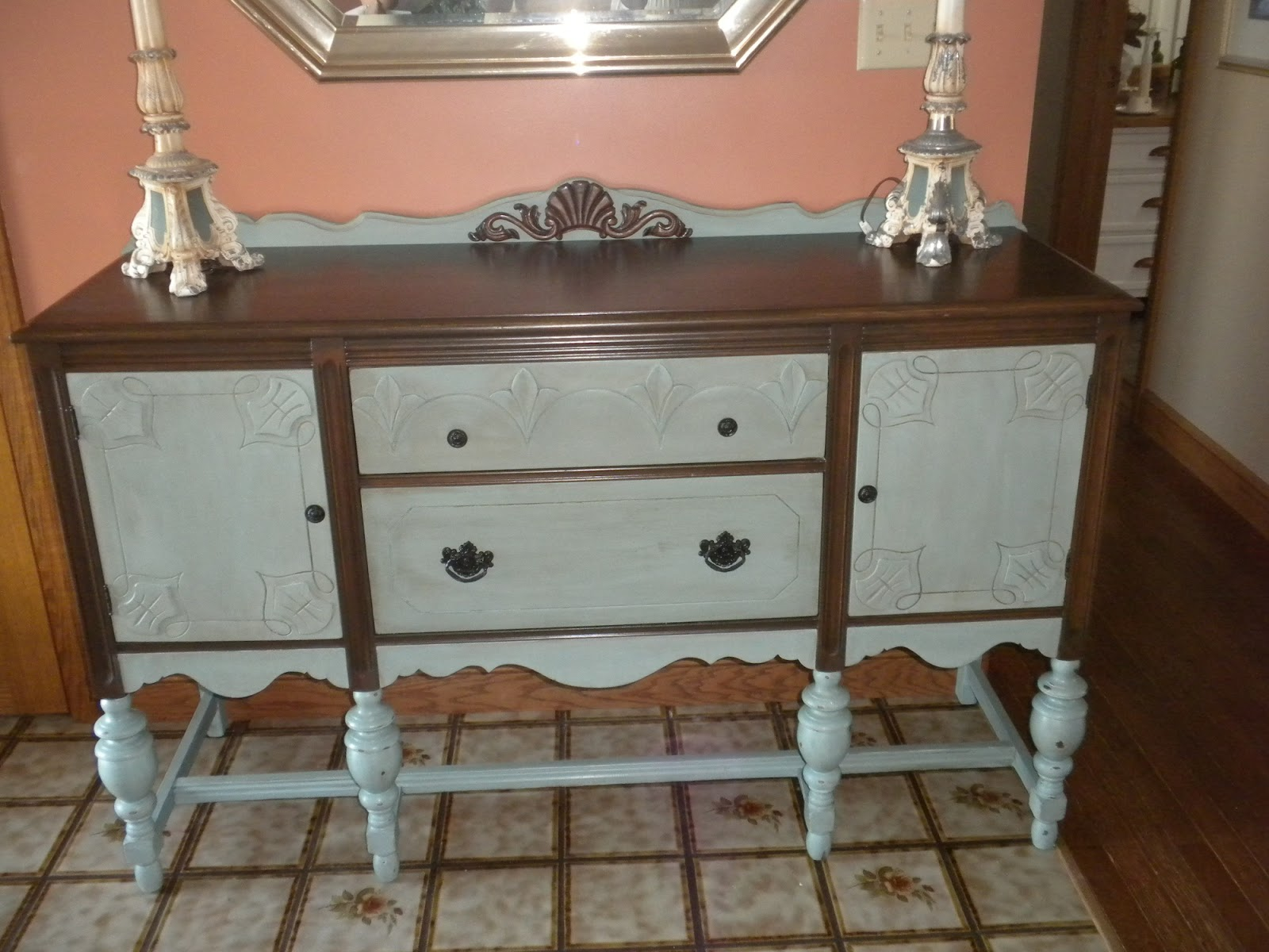 Repurposed Style Old World Buffet Painted With Annie