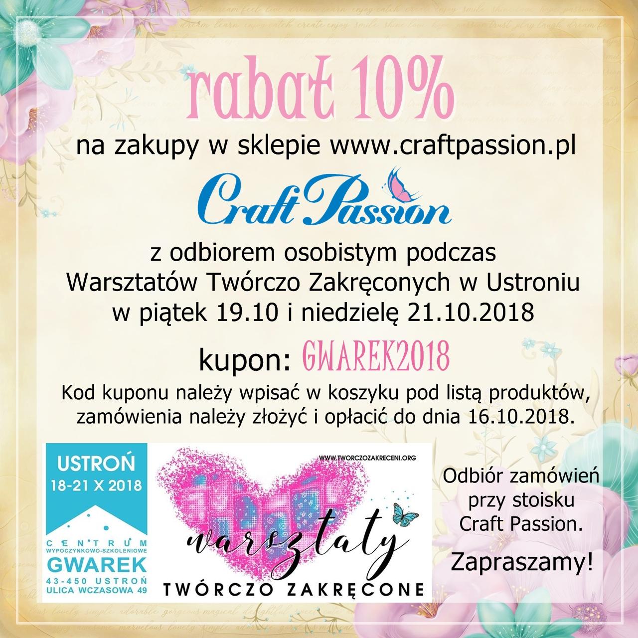 Warsztaty w Ustroniu 19.10 i 21.10.2018
