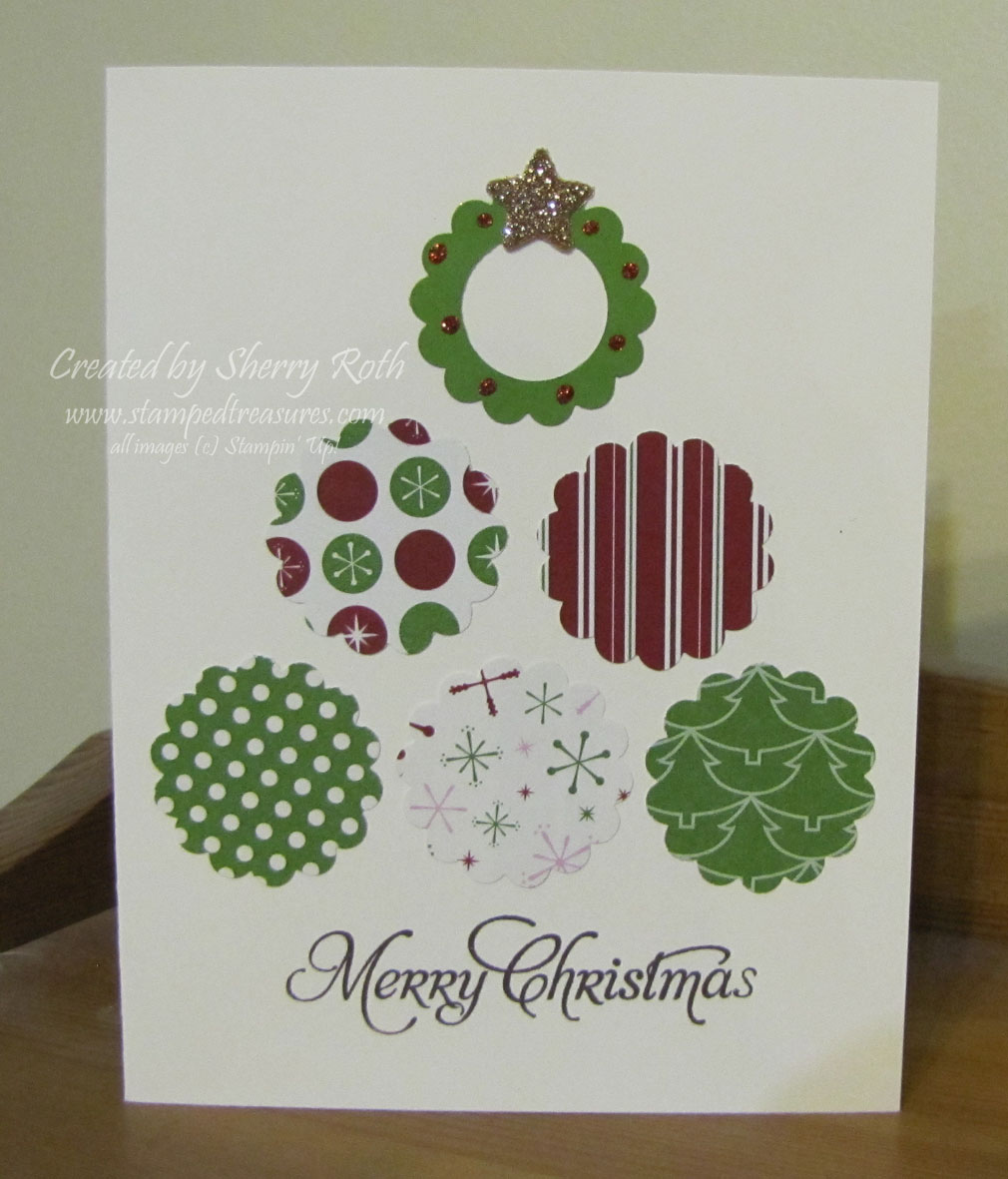 sherry s stamped treasures quick and easy christmas card