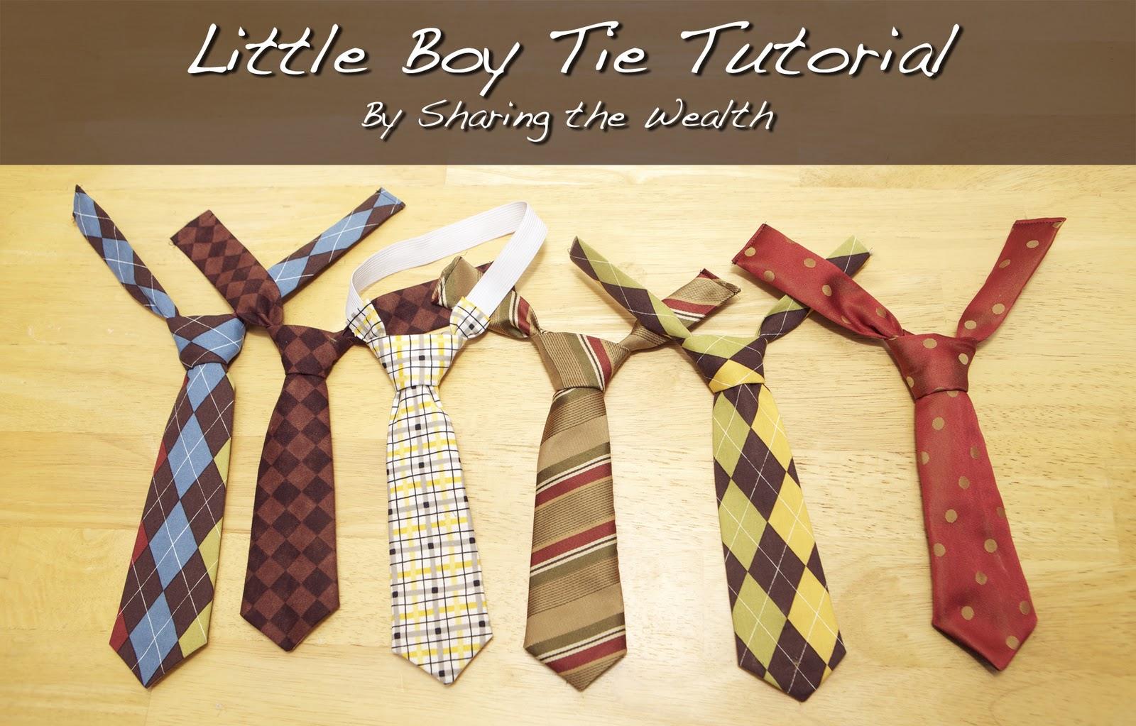 sharing the wealth little boy tie tutorial