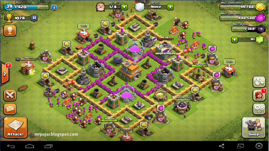 desain trophy base coc TH level 7