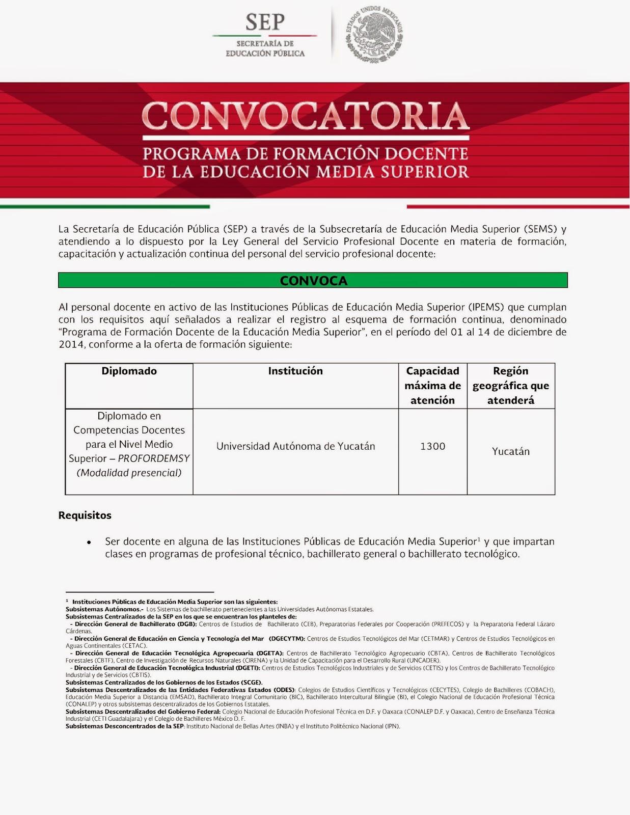 Cobay kinchil convocatoria para diplomado en competencias for Convocatoria para docentes