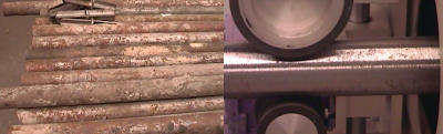 scaffolding pipes restoring - scaffolding pipes painting