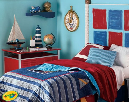 Nautical theme for boys bedrooms home decorating ideas for Themed bedrooms for boys