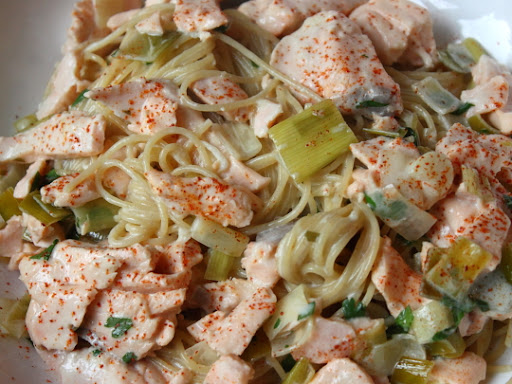 Creamy salmon and leek pasta sauce and obvious metaphors food creamy salmon and leek pasta sauce and obvious metaphors food wishes video recipes forumfinder Image collections