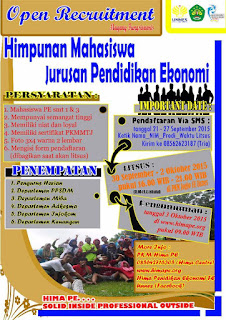 Open Recruitment Magang Hima Pendidikan Ekonomi Unnes