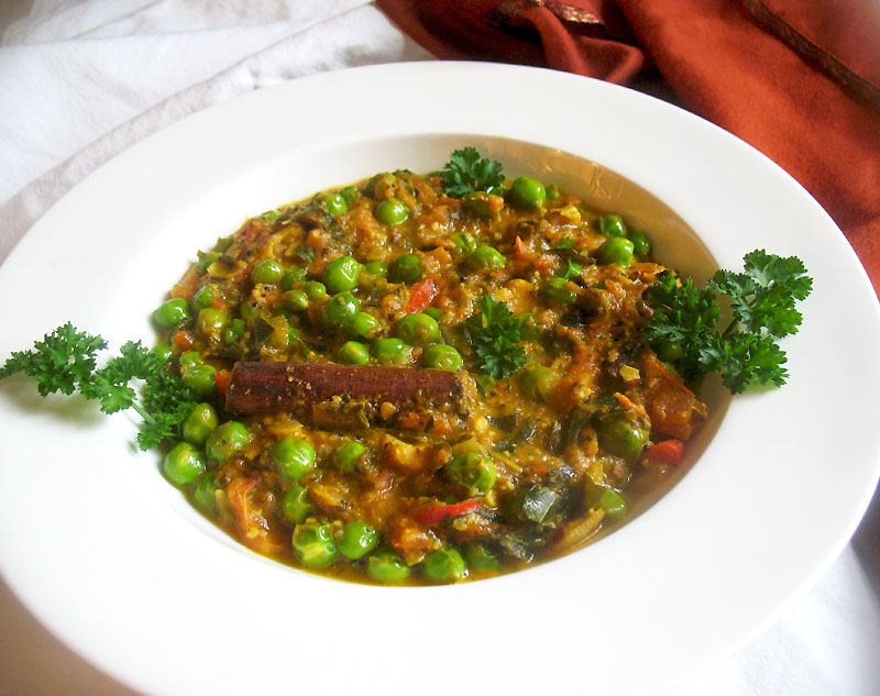 Green Peas Curry (Mattar Masala) Lisas Kitchen Vegetarian