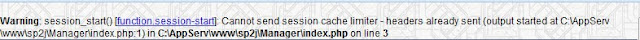 Warning: session_start() [function.session-start]: Cannot send session cache limiter