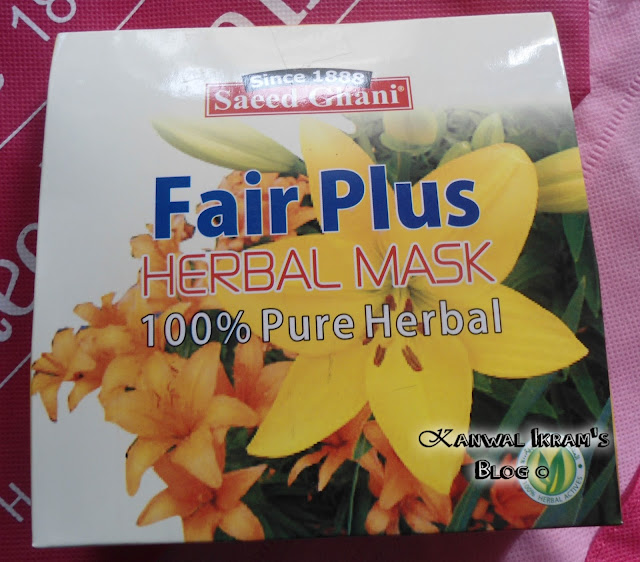 Saeed Ghani Fair Plus Herbal Mask