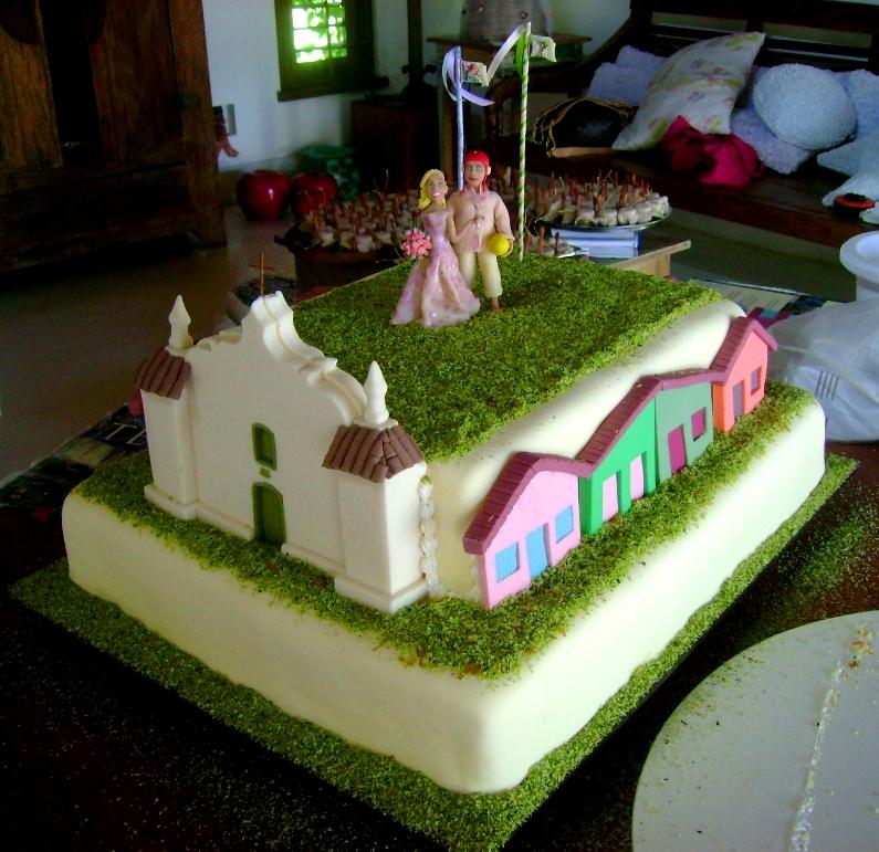 Bolo   Nego Campello  Igreja E Casinhas  Pasta Americana  Nalva Bolo