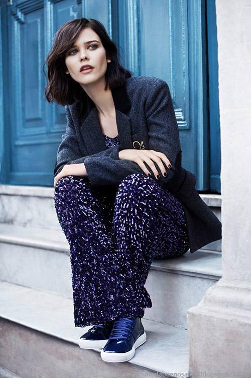 Moda otoño invierno 2015 pantalones semioxford estampados Uma.