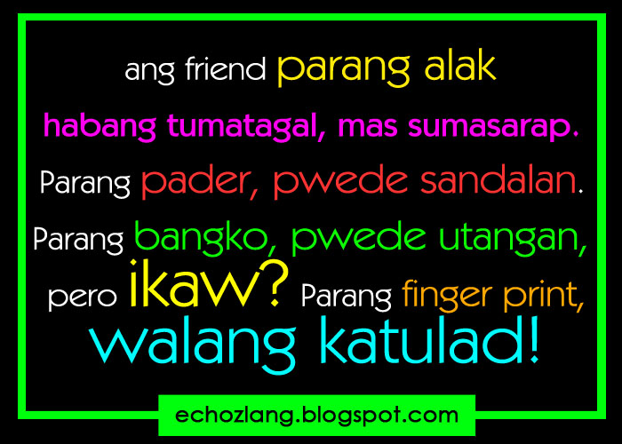 Quotes Between Love And Friendship Tagalog : Quotes About Friendship Tagalog. QuotesGram