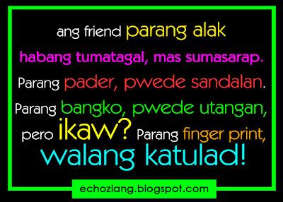 Friend para kang fingerprint, walang katulad.