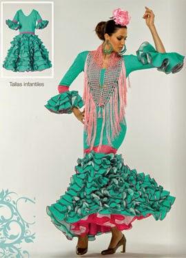 moda flamenca El Corte Inglés traje de flamenca con lunares niña
