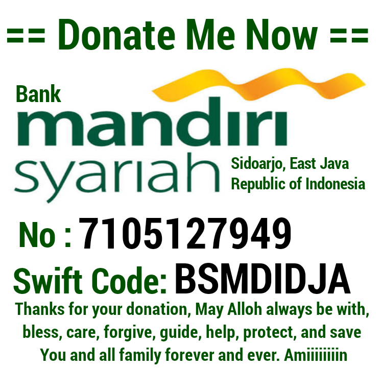Donate me: AA Rahmadhi