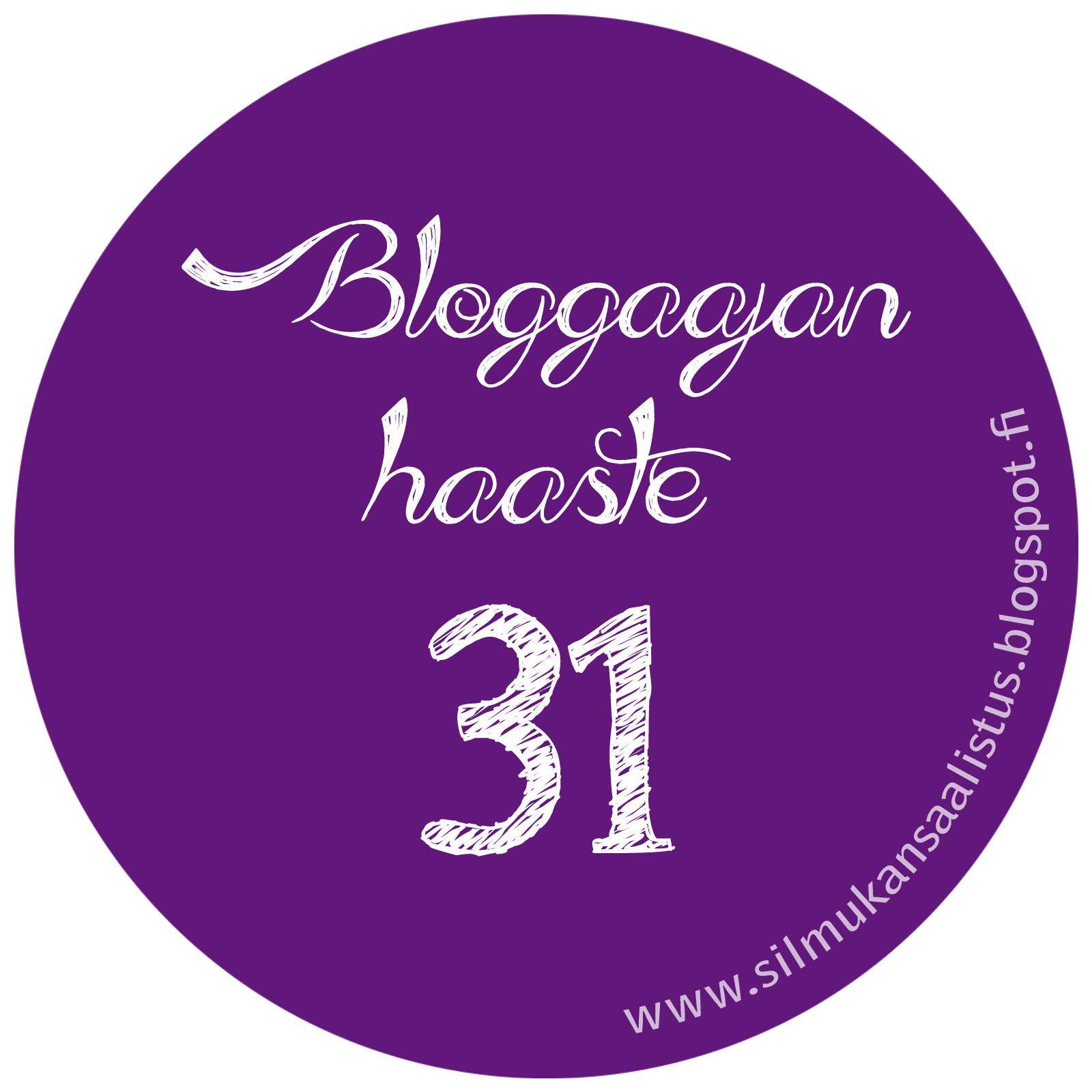 http://silmukansaalistus.blogspot.fi/2014/02/bloggaajan-haaste-31.html