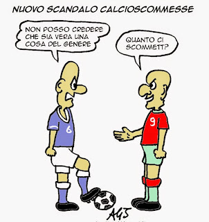 calcioscommesse, legapro, ndrangheta, sport, calcio, vignetta, satira