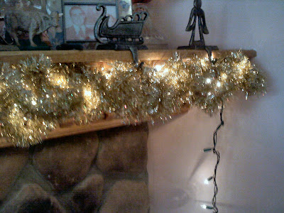 Shades of Safhire -Mantle lights and garland solution