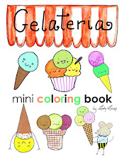 Kawaii Gelateria Coloring Book