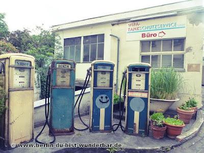 Berlin, tankstelle, verlassene, hinterhof, benzin, kreuzberg