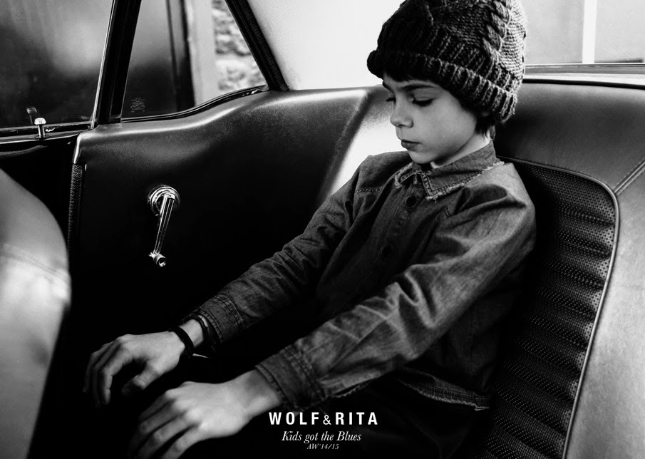 Cool washed denim shirt with ripped collar by Wolf & Rita  for Autumn-Winter 2014/15 kids fashion collection