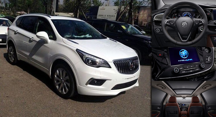 Buick reveals new envision suv 39 s interior chinese media the exterior