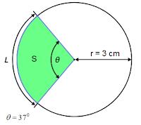 """שאלה 2 - חישוב שטח ואורך קשת גיזרה במעגל ע""""פ רדיוסו"""