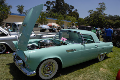 turquoise t-bird at local car show
