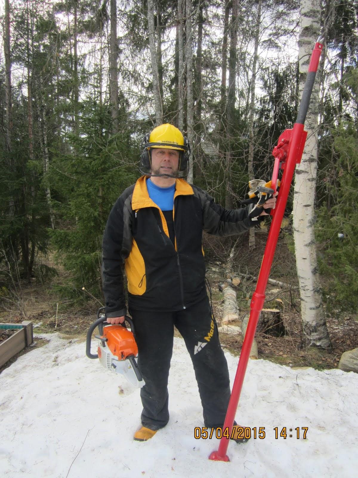 Pihapuiden kaadot Tampere Pirkanmaa talousalueella Stalpen kaadonsuuntaaja apuna