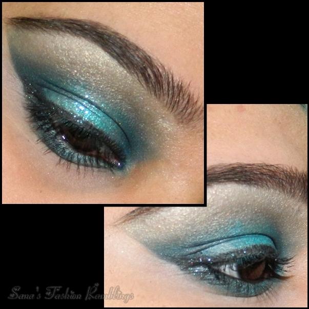 Smokey Teal Eye Makeup