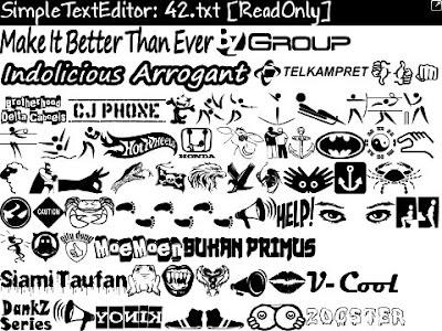 Blackberry Logo Font Ascii Logo Blackberry For
