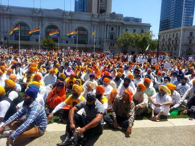 San Francisco | Gathering during the operation blue star 1984 memorial Sikh Parade