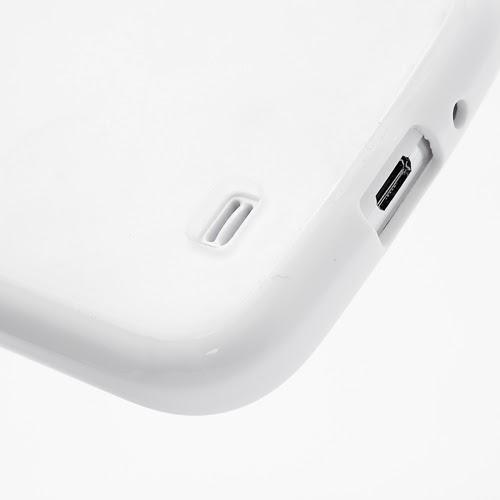 Hybrid Case : TPU Edges and Transparant Back Case Samsung Galaxy S 4 IV i9500 i9505 - White