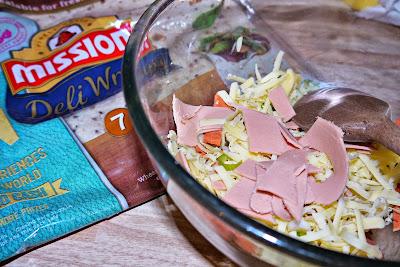 cheese, ham