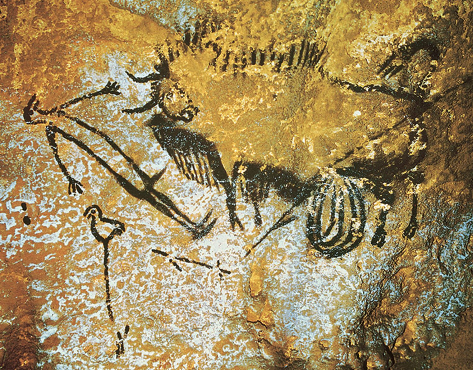an analysis of the art the cave in lascaux Carbon isotope analysis of charcoal used in pictures of horses at chauvet,   when pablo picasso visited the newly-discovered lascaux caves,.