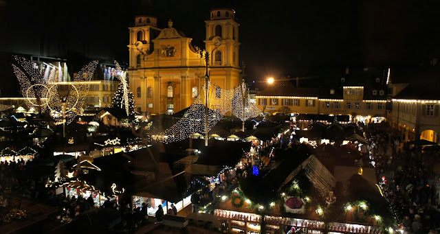View of Ludwigsburg Christmas Market, Germany
