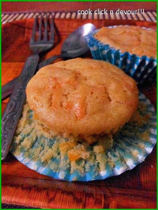 egg less carrot muffin