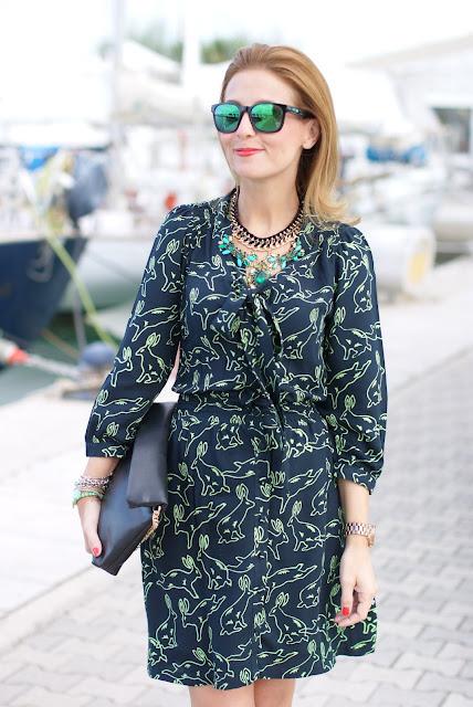 Surfdome, Ruby Rocks rabbit printed dress, Fashion and Cookies, fashion blogger