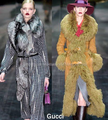 зимни палта с големи кожени яки