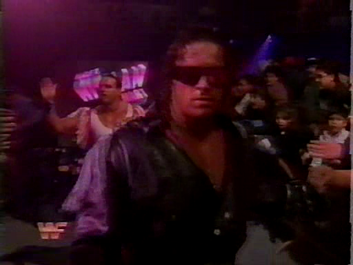 WWF / WWE - Survivor Series 1994: WWF Champion Bret 'The Hitman' Hart was accompanied by his second, The British Bulldog