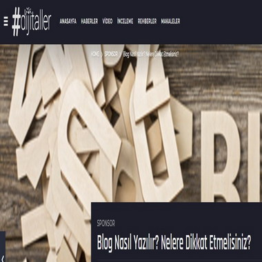 dijitaller com - blog nasıl yazılır