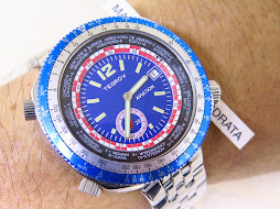 TEGROV AVIATION BLUE DIAL BLUE BEZEL WORLD TIME RALLY INDEX - AUTOMATIC